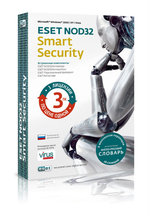 Антивирус Eset NOD32 Smart Security на 3 ПК